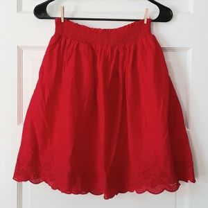 Old Navy Women's Red Skirt with Eyelet